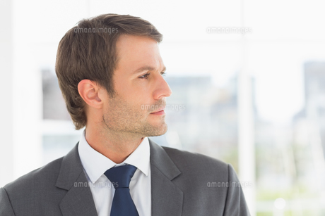 Closeup of a handsome young businessmanの写真素材 [FYI00000064]
