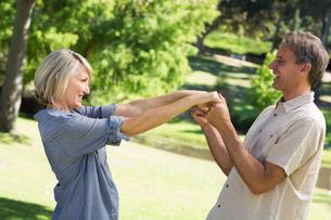 Romantic couple dancing in parkの写真素材 [FYI00000337]