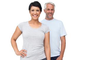 Portrait of a happy fit coupleの写真素材 [FYI00001665]