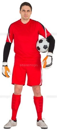 Fit goal keeper looking at cameraの素材 [FYI00002027]
