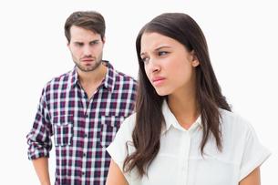 Angry brunette not listening to her boyfriendの写真素材 [FYI00002598]