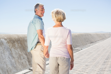 Senior couple holding hands and walkingの写真素材 [FYI00002822]