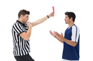 Referee showing red card to football playerの素材 [FYI00003307]