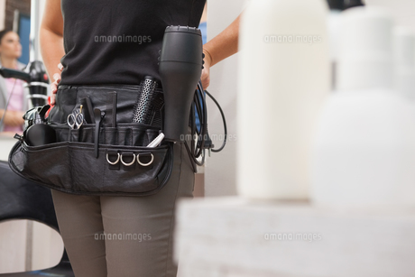 Close up of hairdressing bagの写真素材 [FYI00004206]