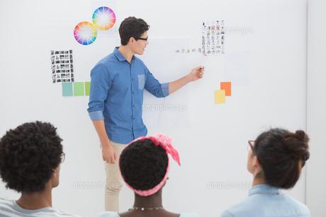 Young creative team listening to presentationの素材 [FYI00004251]