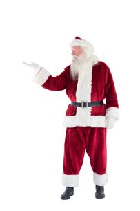Santa shows something to cameraの写真素材 [FYI00004420]