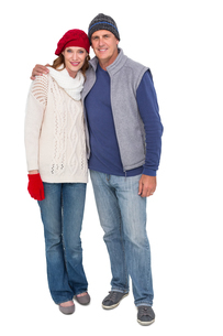 Happy couple in warm clothingの写真素材 [FYI00004603]
