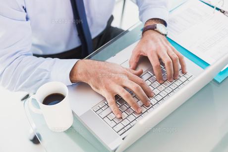Businessman using his laptopの素材 [FYI00004800]