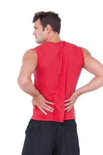 Fit man with injured backの素材 [FYI00005681]