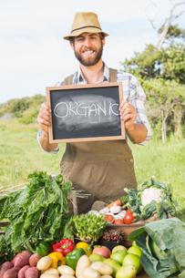 Farmer selling his organic produceの写真素材 [FYI00005708]