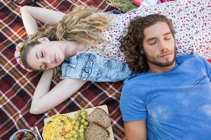 Cute couple having a picnicの写真素材 [FYI00005855]