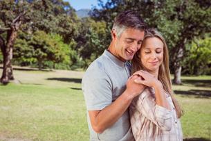 Happy couple in the parkの写真素材 [FYI00006001]