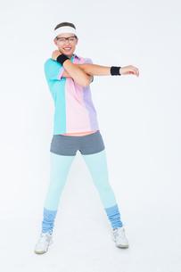 Geeky hipster posing in sportswearの写真素材 [FYI00006414]