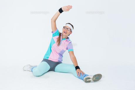 Geeky hipster posing in sportswearの写真素材 [FYI00006416]