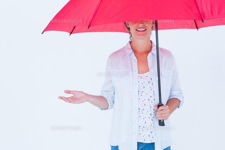 Woman holding an umbrellaの写真素材 [FYI00006476]