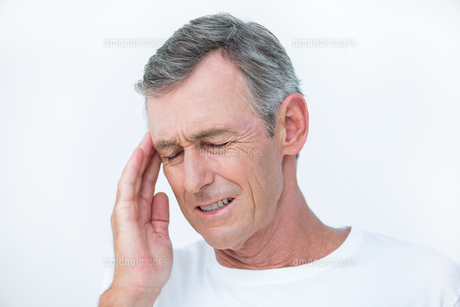 Patient with headacheの写真素材 [FYI00006736]