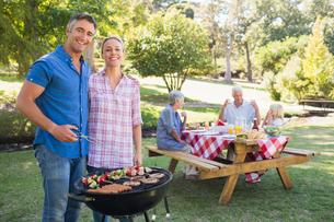 Happy family having picnic in the parkの写真素材 [FYI00007247]