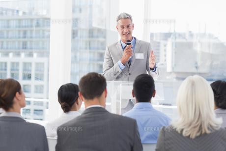 Businessman doing speech during meetingの素材 [FYI00007533]