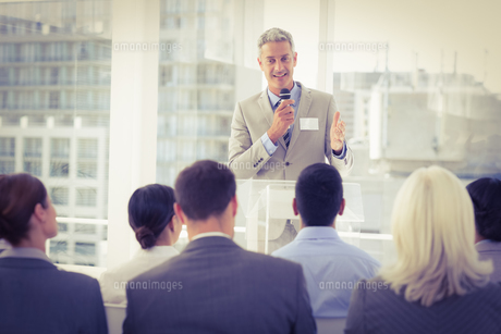 Businessman doing speech during meetingの素材 [FYI00007643]