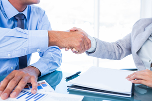 Business people shaking handsの素材 [FYI00008052]