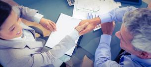 Business people shaking handsの素材 [FYI00008104]