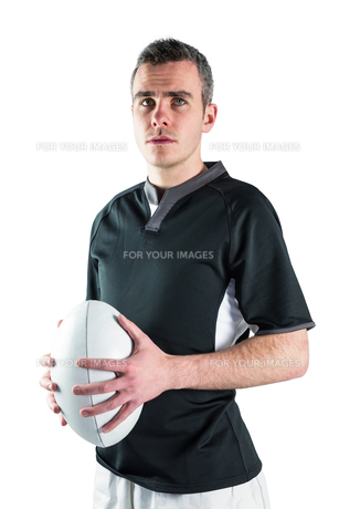 Rugby player holding a rugby ballの写真素材 [FYI00008645]
