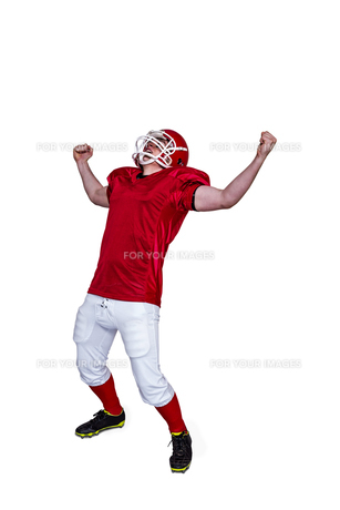 A triumph of an american football playerの素材 [FYI00009638]