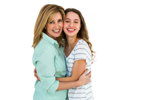 Mother and daughter embracingの写真素材 [FYI00010243]