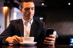 Businessman having a coffeeの写真素材 [FYI00010372]