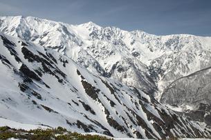 早春の八方尾根から望む白馬三山の写真素材 [FYI00023525]