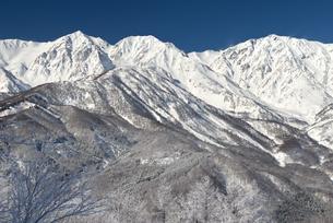 厳冬の白馬三山の写真素材 [FYI00023605]