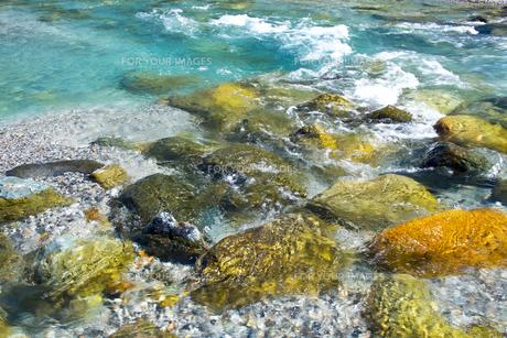松川の清らかな水の写真素材 [FYI00023676]