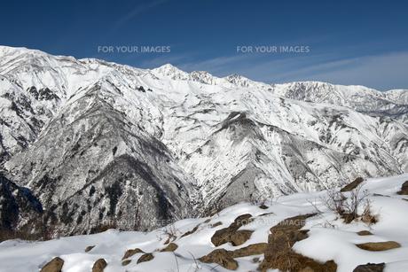 地蔵の頭から望む初冬の白馬三山の素材 [FYI00023720]