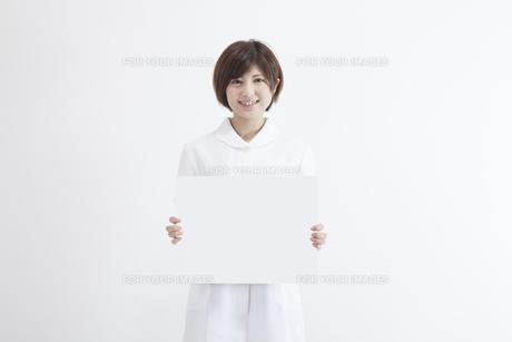 ホワイトボードを持つ看護師の素材 [FYI00023919]