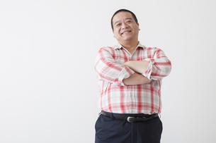 中年男性のポートレートの写真素材 [FYI00023985]