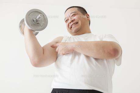 中年男性のダイエットの写真素材 [FYI00024013]