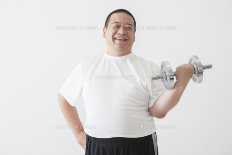 中年男性のダイエットの写真素材 [FYI00024014]