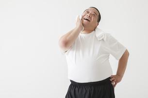 中年男性のダイエットの写真素材 [FYI00024015]