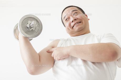中年男性のダイエットの写真素材 [FYI00024017]