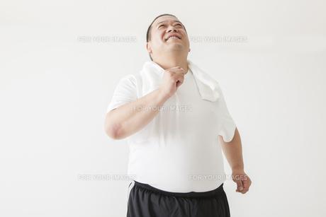 中年男性のダイエットの写真素材 [FYI00024020]