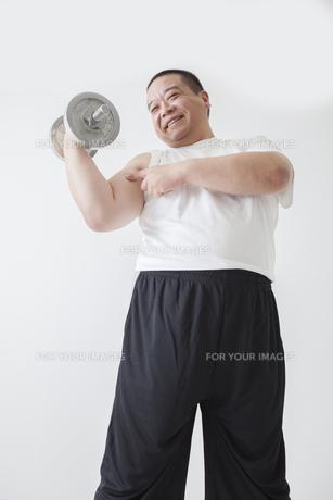中年男性のダイエットの写真素材 [FYI00024021]