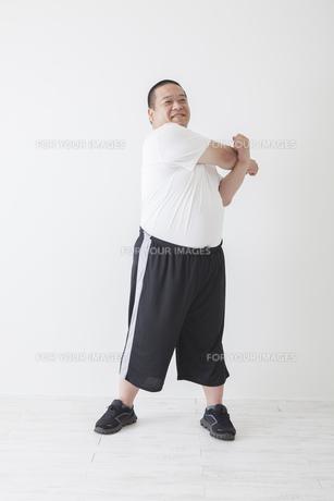 中年男性のダイエットの写真素材 [FYI00024024]