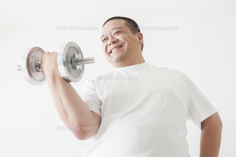 中年男性のダイエットの写真素材 [FYI00024026]