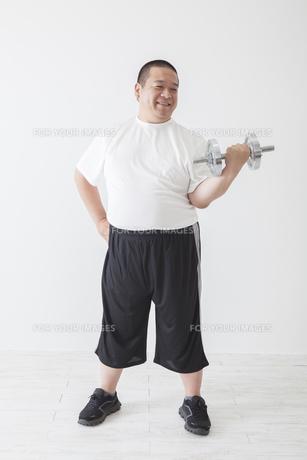 中年男性のダイエットの写真素材 [FYI00024030]