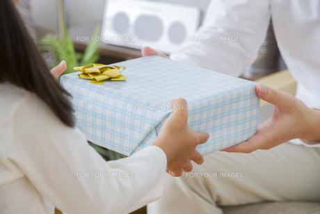 プレゼントをする女の子の写真素材 [FYI00024092]