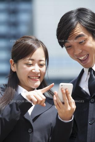 若い会社員の男女の素材 [FYI00024379]