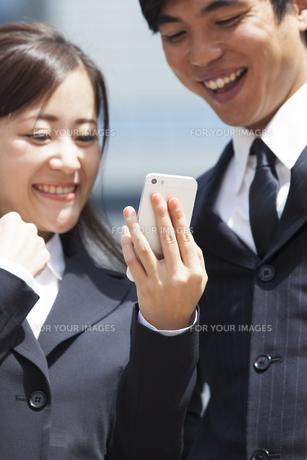 若い会社員の男女の素材 [FYI00024385]