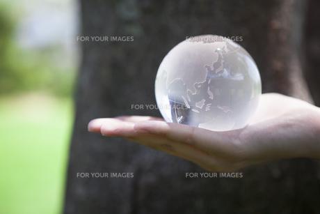 地球を持つ手の素材 [FYI00024455]