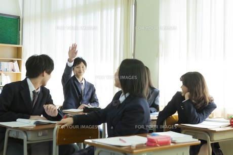 授業を受ける高校生たちの素材 [FYI00024475]