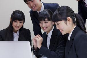 就職活動をする大学生の素材 [FYI00024540]